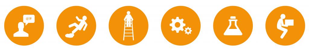 Workplace hazard icons